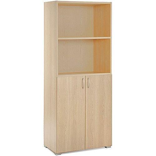 Tall Open Top Cupboard HOTOPO Blonde Oak
