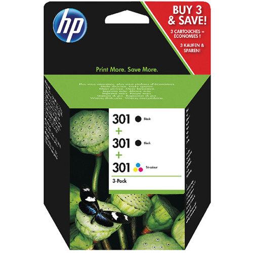HP 301 Tri-pack Ink Cartridge Pack of 3 Black/Colour E5Y87EE