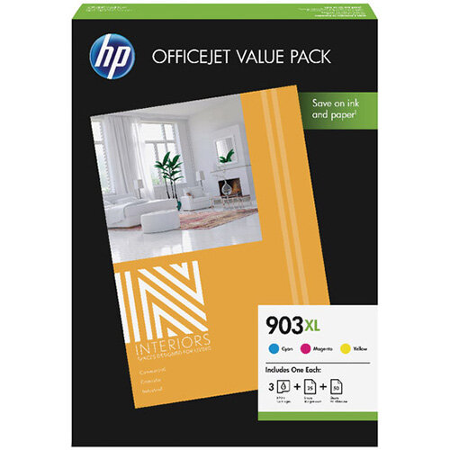 HP 903XL CMY Ink Cartridge Office Value Pack