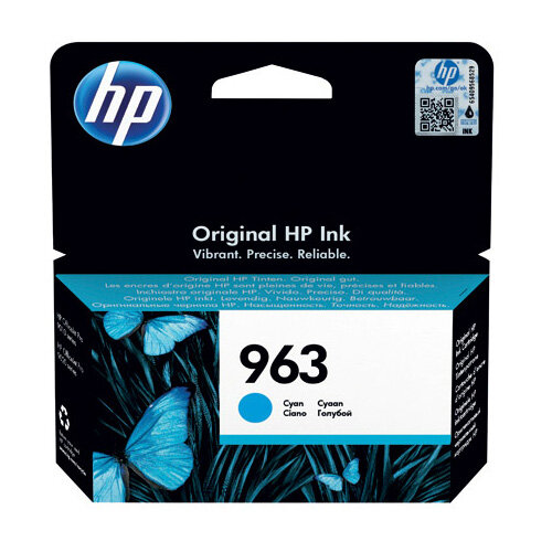 HP 963 Original Ink Cartridge Cyan 3JA23AE