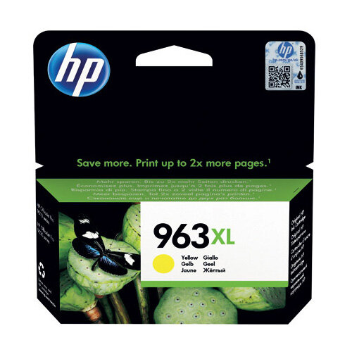 HP 963XL Original Yellow Ink Cartridge High Yield 1,600 page capacity 3JA29AE