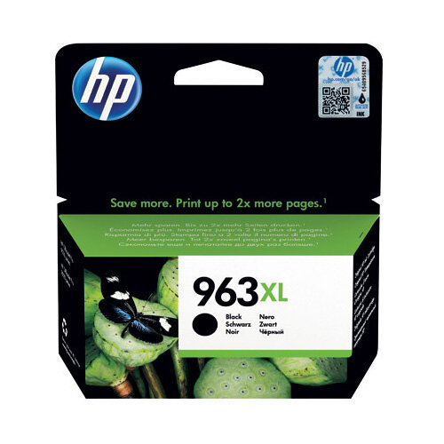 HP 963XL Original Ink Cartridge HY Black 2000 page capacity 3JA30AE