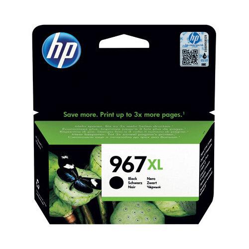 HP 967XL Original Black Ink Cartridge Extra High Yield 3,000 page capacity 3JA31AE
