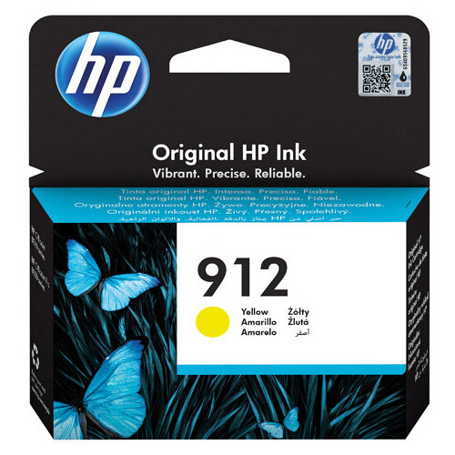 HP 912 Ink Cartridge Yellow 2.93ml 3YL79AE