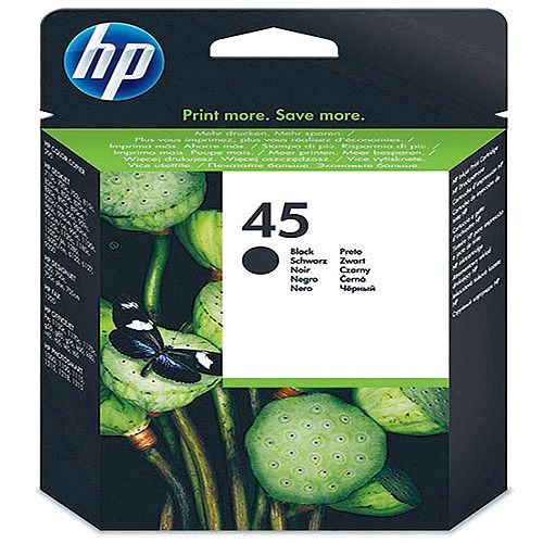 HP 45 Black Inkjet Cartridge 42ml 51645AE