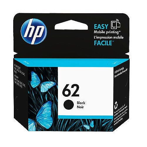 HP 62 Black Original Ink Cartridge C2P04AE