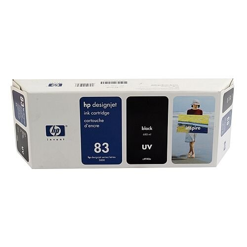HP No 83 Black UV Inkjet Cartridge C4940A