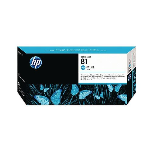 HP 81 Cyan Dye Print Head and Cleaner C4951A