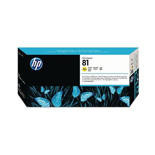 HP 81 Yellow Dye Print Head and Cleaner C4953A