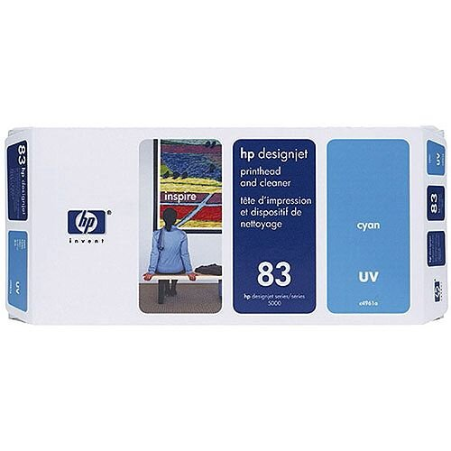 HP 83 UV Print Head and Cleaner Cyan C4961A