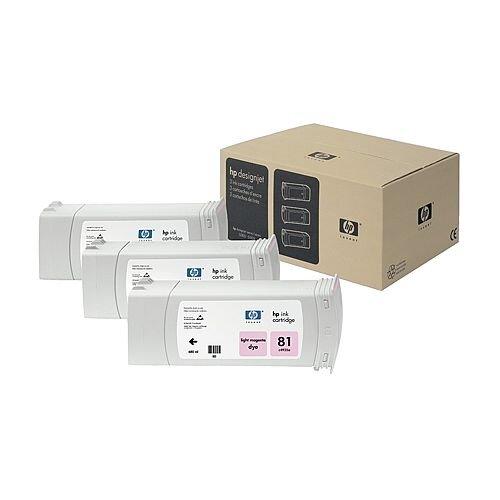 HP 81 Light Magenta DesignJet Dye Ink Tri-Pack C5071A