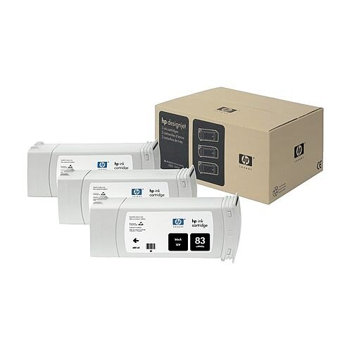 Hewlett Packard No83 UV 3 Ink Multi-Pack Inkjet Cartridge Black C5072A