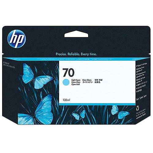 Hewlett Packard No 70 Light Cyan Inkjet Cartridge C9390A