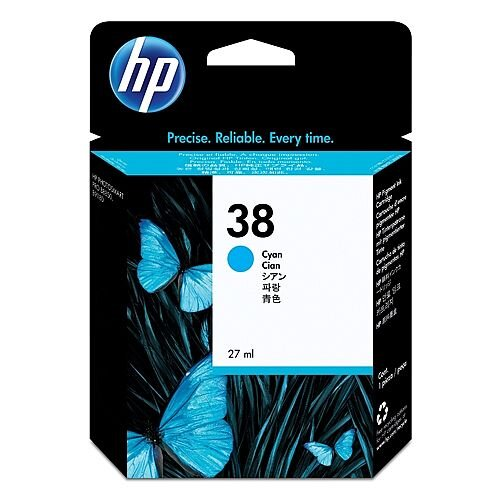 Hewlett Packard No38 Pigment Inkjet Cartridge Cyan C9415A