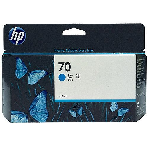 Hewlett Packard No 70 Inkjet Cartridge 130ml Cyan C9452A