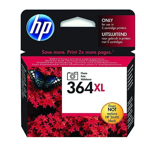 HP 364XL Black Photo Ink Cartridge CB322EE