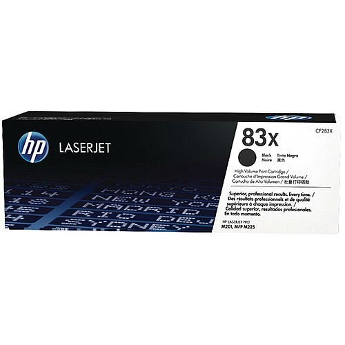 HP 83X High Yield Black LaserJet Toner Cartridge Pack of 2 CF283XD