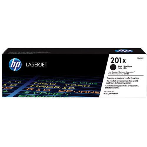 HP 201X High Yield Black LaserJet Toner Cartridge Pack of 2 CF400XD