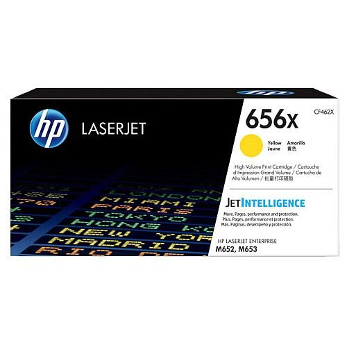 HP 656X High Yield Yellow Original LaserJet Toner Cartridge CF462X