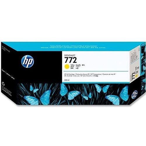 Hewlett Packard No772 Design Jet Inkjet Cartridge 300ml Yellow CN630A