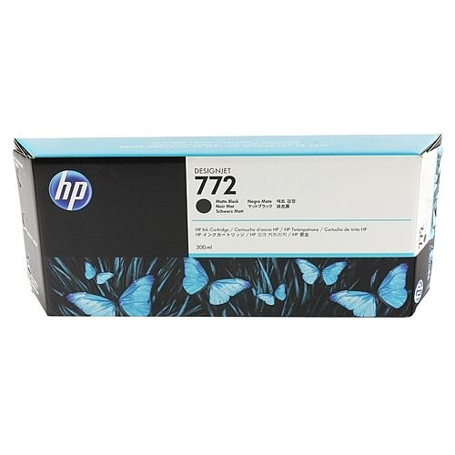 Hewlett Packard No772 Design Jet Inkjet Cartridge 300ml Matte Black CN635A