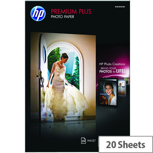 HP A3 Premium Plus Inkjet Photo Paper  Glossy 300gsm (Pack of 20)