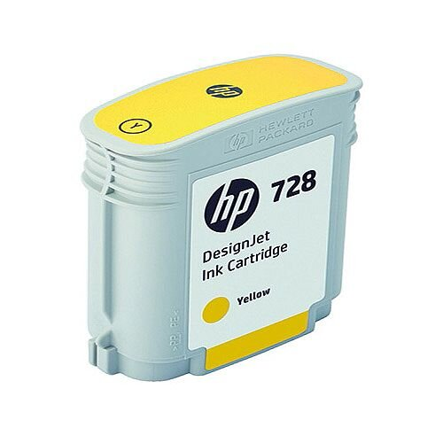 HP 728 40ml DesignJet Ink Cartridge Yellow F9J61A