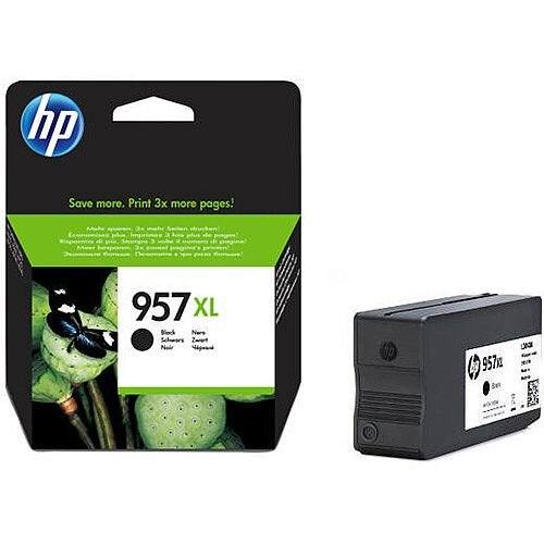 HP 957XL High Yield Black Ink Cartridge L0R40AE