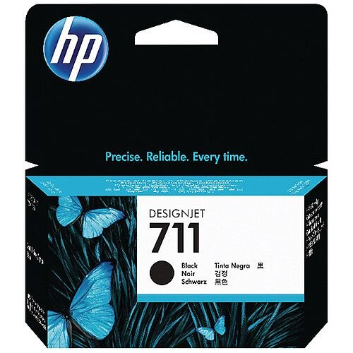HP 711 Black DesignJet Ink Cartridge 80ml Pack of 2 P2V31A