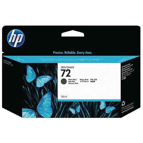 HP 72 Matte Black DesignJet Ink Cartridge 130ml Pack of 2 P2V33A