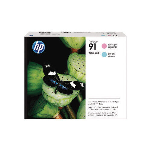 HP 91 Light Magenta and Light Cyan Printhead P2V37A