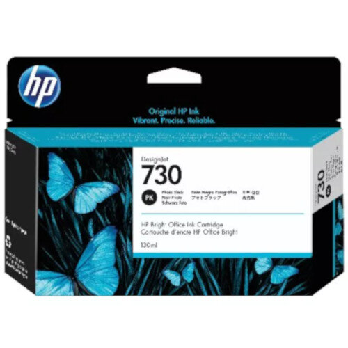 HP 730 130ml Photo Black DesignJet Ink Cartridge P2V62A