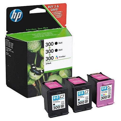 HP 300 Black/Cyan/Magenta/Yellow Ink Cartridges Tri-Pack SD518AE