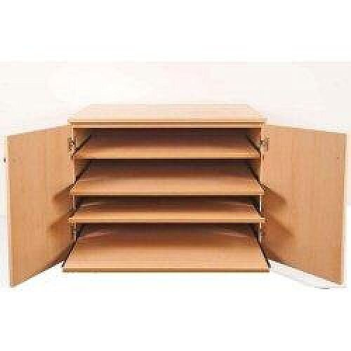 Chart Press with Five Pull-out Shelves SF6