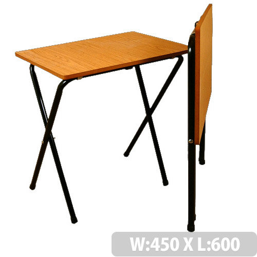 Folding Exam Table With Black Frame &Beech Top - High Quality Exam Table With Safety Brackets To Prevent Collapsing When Opening. Dimensions: L600 x W450 x H762mm. Ideal For Schools &Colleges.