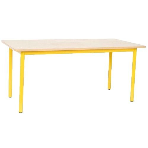 Rectangular Primary School Table Yellow 1200x600x550mm