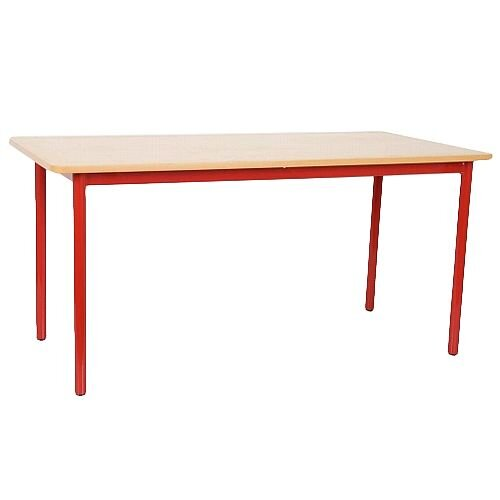 Rectangular Primary School Table Red 1200x600x600mm