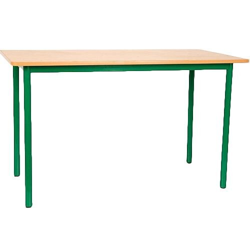 Rectangular Primary School Table Green 1200x600x700mm