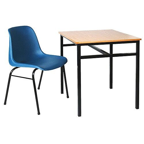 Single Student Table Suitable For Classrooms, Lecture Halls, Education Centers &More. 600mm x 600mm x 760mm. Includes Tie Bars For Reinforcement. #SSD