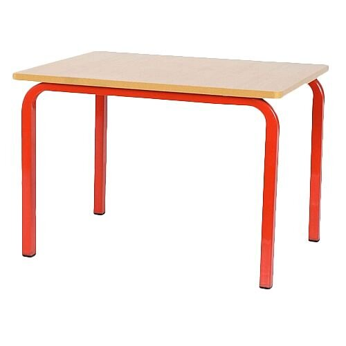 Single Student Primary School Table Red 600x600x600mm
