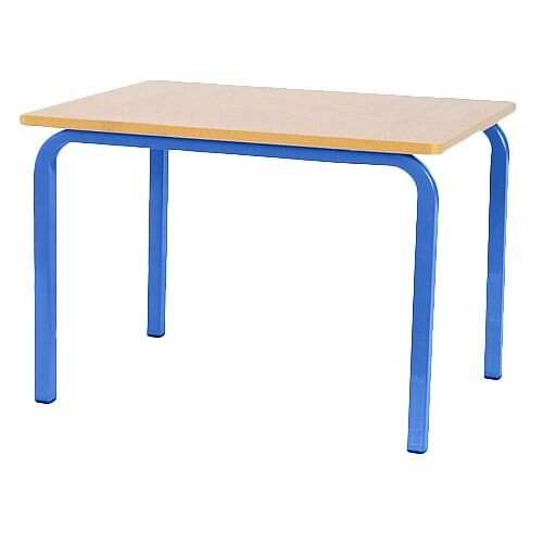 Single Student Primary School Table Blue 600x600x650mm