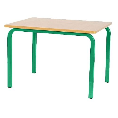 Single Student Primary School Table Green 600x600x700mm