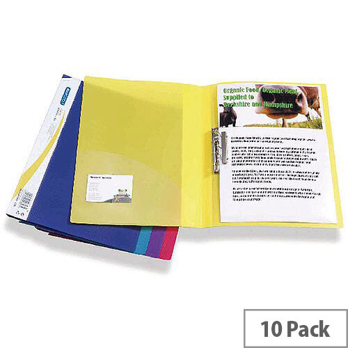 Rapesco Clamp Binder A4 Pack Of 10 Assorted