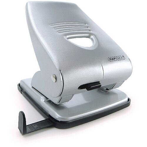 Rapesco Silver 835 Heavy Duty 2-Hole Punch