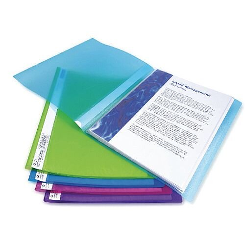 Rapesco A4 Flexi Display Book 40 Pocket Bright Assorted 10pk