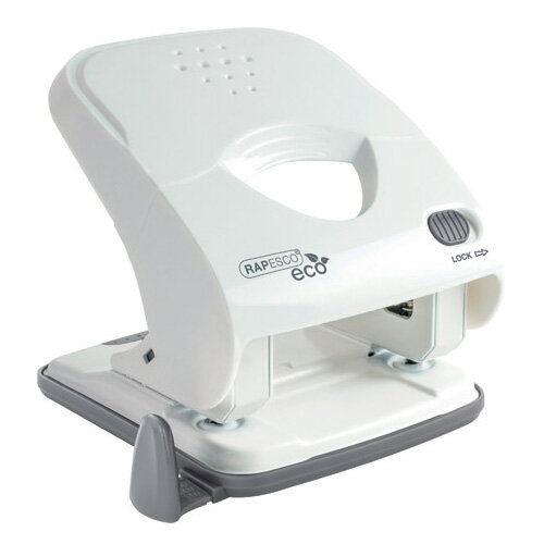 Rapesco ECO X5-40ps Less Effort 2 Hole Punch White 1526