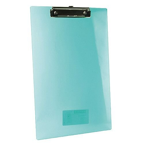 Plastic Clipboards A4 Shatterproof Transparent Assorted Colours