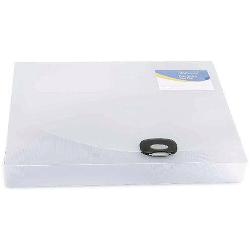 Rapesco A4 Plus Rigid Wallet/Box File 40mm Clear 0711