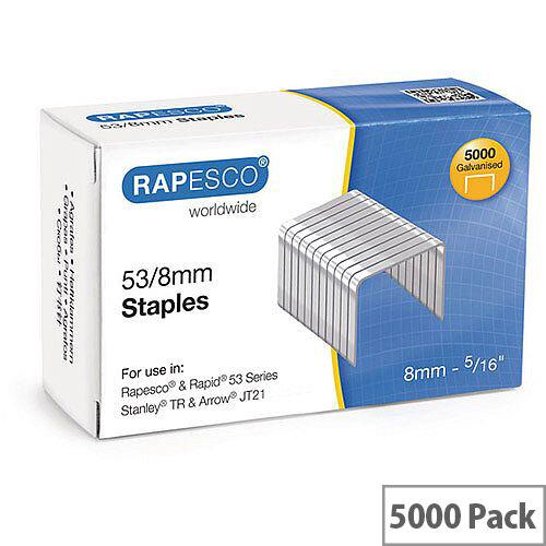 Rapesco Staples 53/8mm Pk 5000