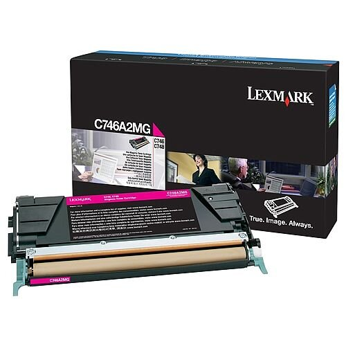 Lexmark C746A1MG Magenta Return Programme Toner Cartridge